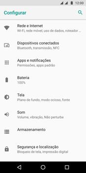 Como selecionar o tipo de rede adequada - Motorola Moto G6 Plus - Passo 3