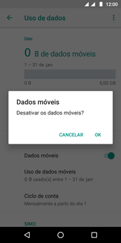 Como ativar e desativar uma rede de dados - Motorola Moto G6 Play - Passo 6