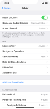 Como ativar e desativar uma rede de dados - Apple iPhone XR - Passo 3
