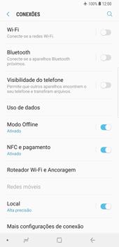 Como ativar e desativar o modo avião no seu aparelho - Samsung Galaxy S9 Plus - Passo 5