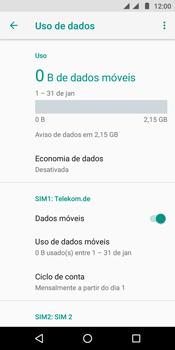 Como definir um aviso e limite de uso de dados - Motorola Moto E5 - Passo 5