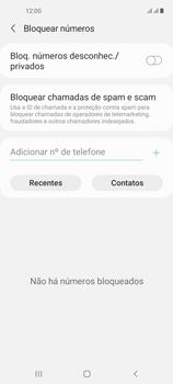Como bloquear chamadas de um número específico - Samsung Galaxy A21s - Passo 8
