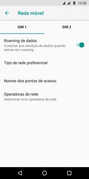 Como ativar e desativar o roaming de dados - Motorola Moto G6 Plus - Passo 5