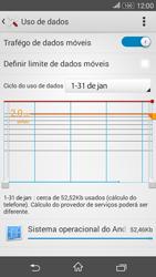 Como ativar e desativar uma rede de dados - Sony Xperia E4G - Passo 4