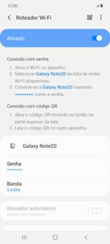 Como usar seu aparelho como um roteador de rede Wi-Fi - Samsung Galaxy Note 20 5G - Passo 11