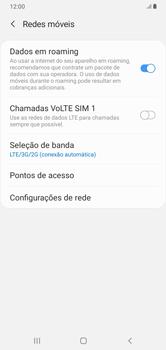 Como ativar e desativar o roaming de dados - Samsung Galaxy A10 - Passo 6