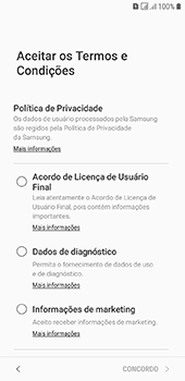 Como configurar pela primeira vez - Samsung Galaxy J6 - Passo 7