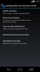 Como ativar e desativar uma rede de dados - Motorola Moto E (1ª Geração) - Passo 6