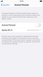 Como usar seu aparelho como um roteador de rede Wi-Fi - Apple iPhone 8 - Passo 5