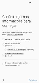 Como configurar pela primeira vez - Samsung Galaxy S10 - Passo 6
