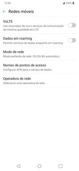 Como ativar e desativar o roaming de dados - LG K40S - Passo 4