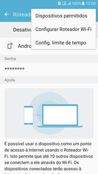 Como usar seu aparelho como um roteador de rede Wi-Fi - Samsung Galaxy On 7 - Passo 6