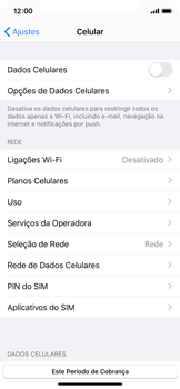 Como ativar e desativar uma rede de dados - Apple iPhone X - Passo 4