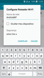 Como usar seu aparelho como um roteador de rede Wi-Fi - Samsung Galaxy J5 - Passo 7