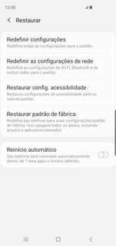 Como restaurar as configurações originais do seu aparelho - Samsung Galaxy S10 - Passo 6