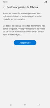 Como restaurar as configurações originais do seu aparelho - Samsung Galaxy A20 - Passo 8