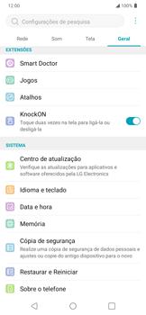 Como encontrar o número de IMEI do seu aparelho - LG K40S - Passo 4