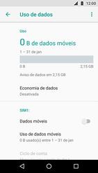 Como ativar e desativar uma rede de dados - Motorola Moto X4 - Passo 6