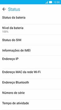 Como encontrar o número de IMEI do seu aparelho - Asus ZenFone Go - Passo 5