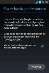 Como configurar seu celular para receber e enviar e-mails - LG Optimus L5 - Passo 8