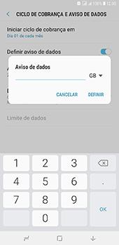 Como definir um aviso e limite de uso de dados - Samsung Galaxy J8 - Passo 10