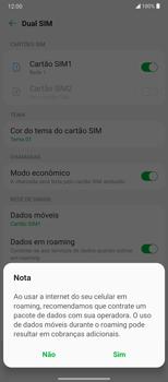 Como ativar e desativar o roaming de dados - LG Velvet 5G - Passo 6
