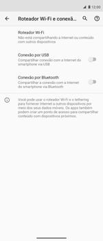 Como usar seu aparelho como um roteador de rede Wi-Fi - Motorola Moto G 5G Plus - Passo 5
