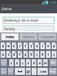 Como configurar seu celular para receber e enviar e-mails - LG Optimus L3 II - Passo 6