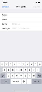 Como configurar seu celular para receber e enviar e-mails - Apple iPhone XR - Passo 8