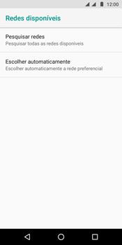 Como selecionar o tipo de rede adequada - Motorola Moto G6 Play - Passo 7
