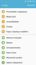 Como restaurar as configurações originais do seu aparelho - Samsung Galaxy S7 - Passo 4