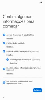 Como configurar pela primeira vez - Samsung Galaxy Note 20 5G - Passo 5