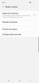 Como selecionar o tipo de rede adequada - Samsung Galaxy S10 - Passo 5