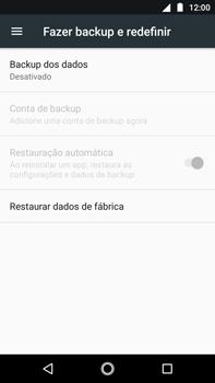 Como restaurar as configurações originais do seu aparelho - Motorola Moto G5s Plus - Passo 5