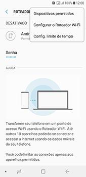 Como usar seu aparelho como um roteador de rede Wi-Fi - Samsung Galaxy J6 - Passo 7