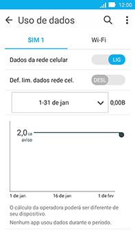 Como ativar e desativar uma rede de dados - Asus ZenFone Go - Passo 4