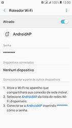 Como usar seu aparelho como um roteador de rede Wi-Fi - Samsung Galaxy J2 Prime - Passo 11