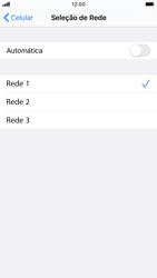 Como selecionar o tipo de rede adequada - Apple iPhone 8 - Passo 6