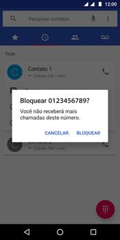 Como bloquear chamadas de um número específico - Motorola Moto G6 Plus - Passo 7
