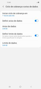 Como definir um aviso e limite de uso de dados - Samsung Galaxy A11 - Passo 14