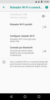 Como usar seu aparelho como um roteador de rede Wi-Fi - Motorola Moto G6 Plus - Passo 5