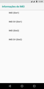 Como encontrar o número de IMEI do seu aparelho - Motorola Moto G6 Plus - Passo 7