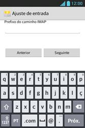 Como configurar seu celular para receber e enviar e-mails - LG Optimus L5 - Passo 11