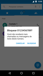 Como bloquear chamadas de um número específico - Motorola Moto G5 Plus - Passo 7