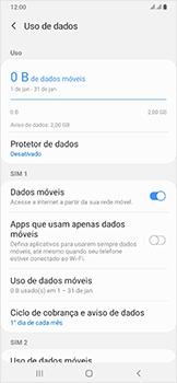 Como definir um aviso e limite de uso de dados - Samsung Galaxy A50 - Passo 5