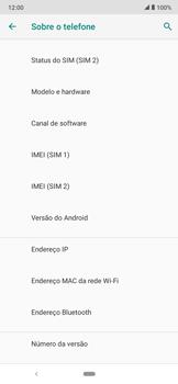 Como encontrar o número de IMEI do seu aparelho - Motorola Moto E6 Plus - Passo 5