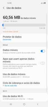 Como definir um aviso e limite de uso de dados - Samsung Galaxy A21s - Passo 5