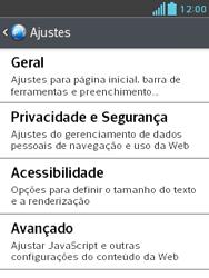 Como configurar a internet do seu aparelho (APN) - LG Optimus L3 II - Passo 22