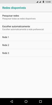 Como selecionar o tipo de rede adequada - Motorola Moto G6 Play - Passo 9