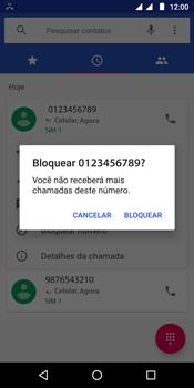 Como bloquear chamadas de um número específico - Motorola Moto G6 Play - Passo 6